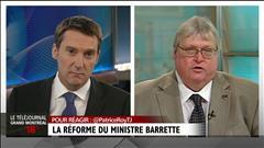 Le ministre Barrette défend son projet de loi