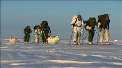 Entraînement militaire sur le lac