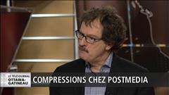Mathieu Nadon a discuté avec le président et éditeur du quotidien Le Droit, Pierre-Paul Noreau