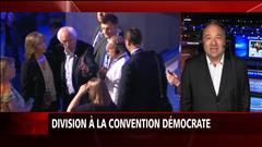 Division à la convention démocrate