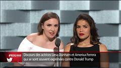 Les actrices Lena Dunham et d'America Ferrera s'expriment à la convention démocrate