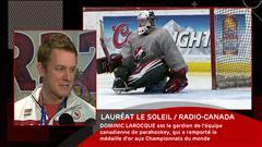 Dominic Larocque, gardien de but de l'équipe canadienne de parahockey