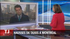 Hausse des taxes à Montréal