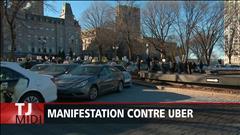Manifestation contre Uber