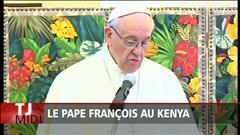 Le pape François en visite au Kenya