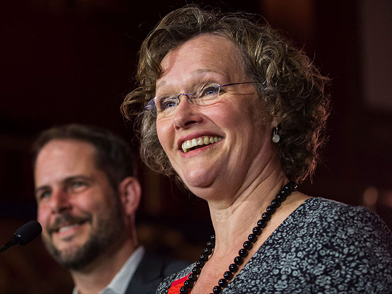 Anne Lagacé Dowson, candidate néo-démocrate dans la circonscription de Papineau, le 3septembre 2015.