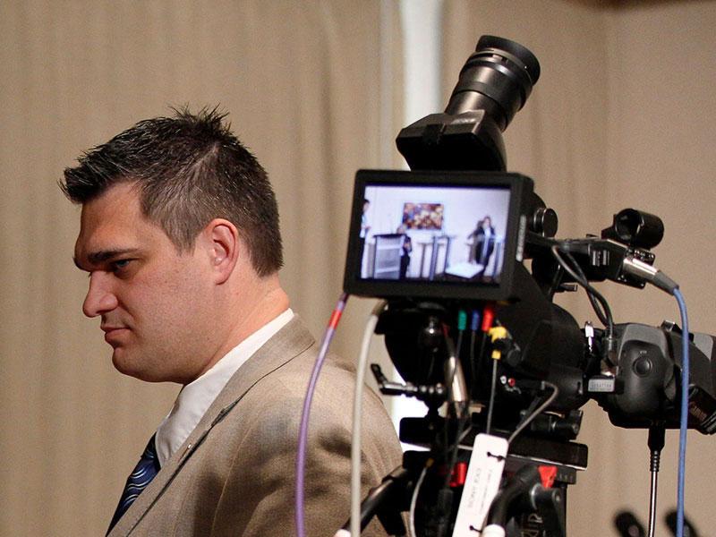 Yan Plante, ancien stratège pour le Parti conservateur, prépare le débat des chefs lors de la campagne électorale de 2015.