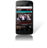 Site Internet mobile TOU.TV