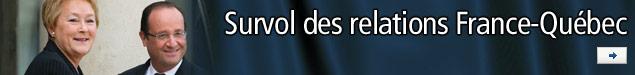 Survol des relations France-Québec