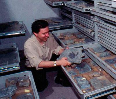 Le paléontologue Richard Cloutier