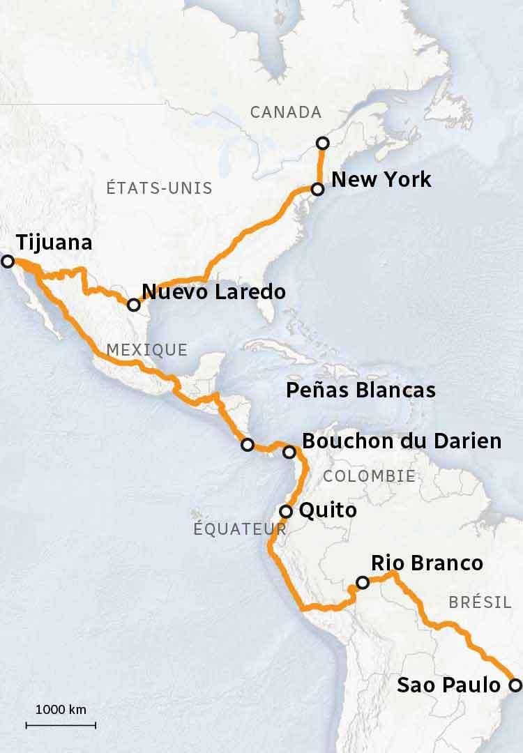 Bresil Mexique Carte.Sur La Route Des Migrants Qui Revent Du Canada Ici Radio