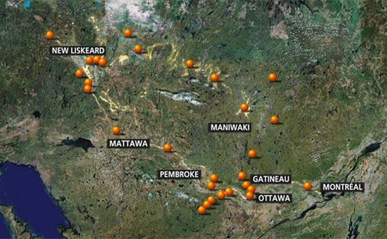 Barrages sur la rivière des Outaouais et ses affluents