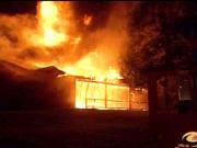Incendie au domaine boisé à Gatineau