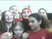Asmahan Mansour et les membres de son club de soccer
